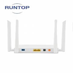 Dual-band wireless 5g gpon epon 2ge pon onu modem for fiber optic equipment