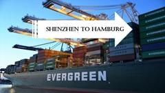 Shipping service from Shenzhen to Hamburg