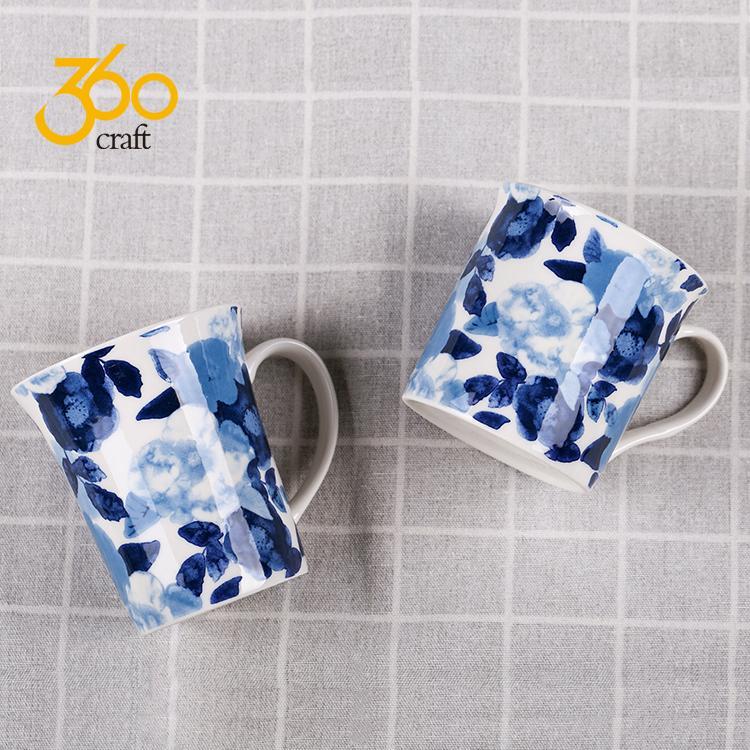Custom Design Creative Pottery Ceramic Mug Tea Cup With Handle  1