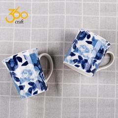 Custom Design Creative Pottery Ceramic Mug Tea Cup With Handle