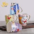 Custom Design Creative Pottery Ceramic Mug Tea Cup With Handle  3