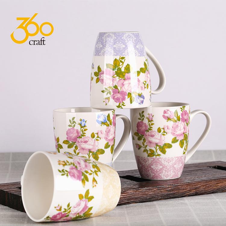 Custom Design Creative Pottery Ceramic Mug Tea Cup With Handle  4