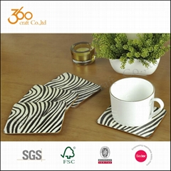 Cork Backed MDF Placemats And Coasters