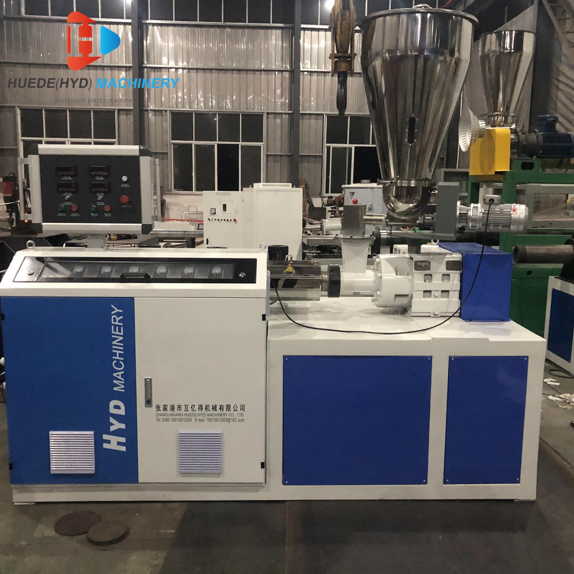 SJ50 Single Screw Extruder For HDPE Tubes ABS PVC Film Sheet Extruder Machine 4