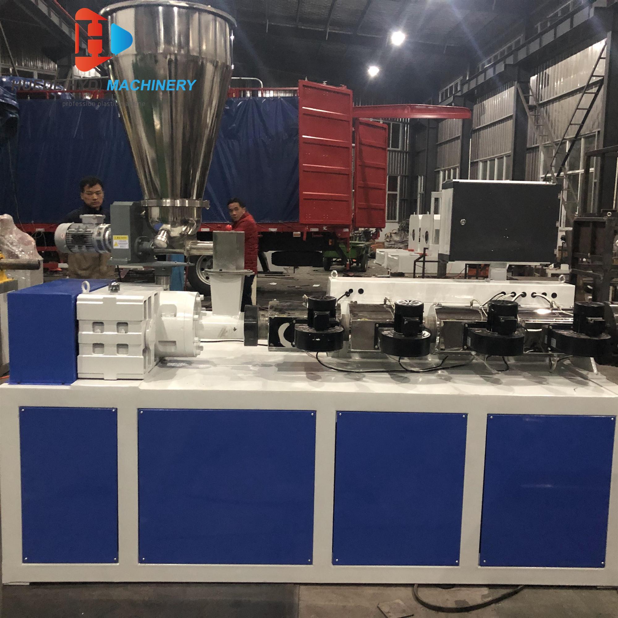 SJ50 Single Screw Extruder For HDPE Tubes ABS PVC Film Sheet Extruder Machine 5