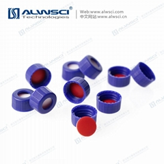 ALWSCI 9mm blue HPLC Bonded Caps with Septa