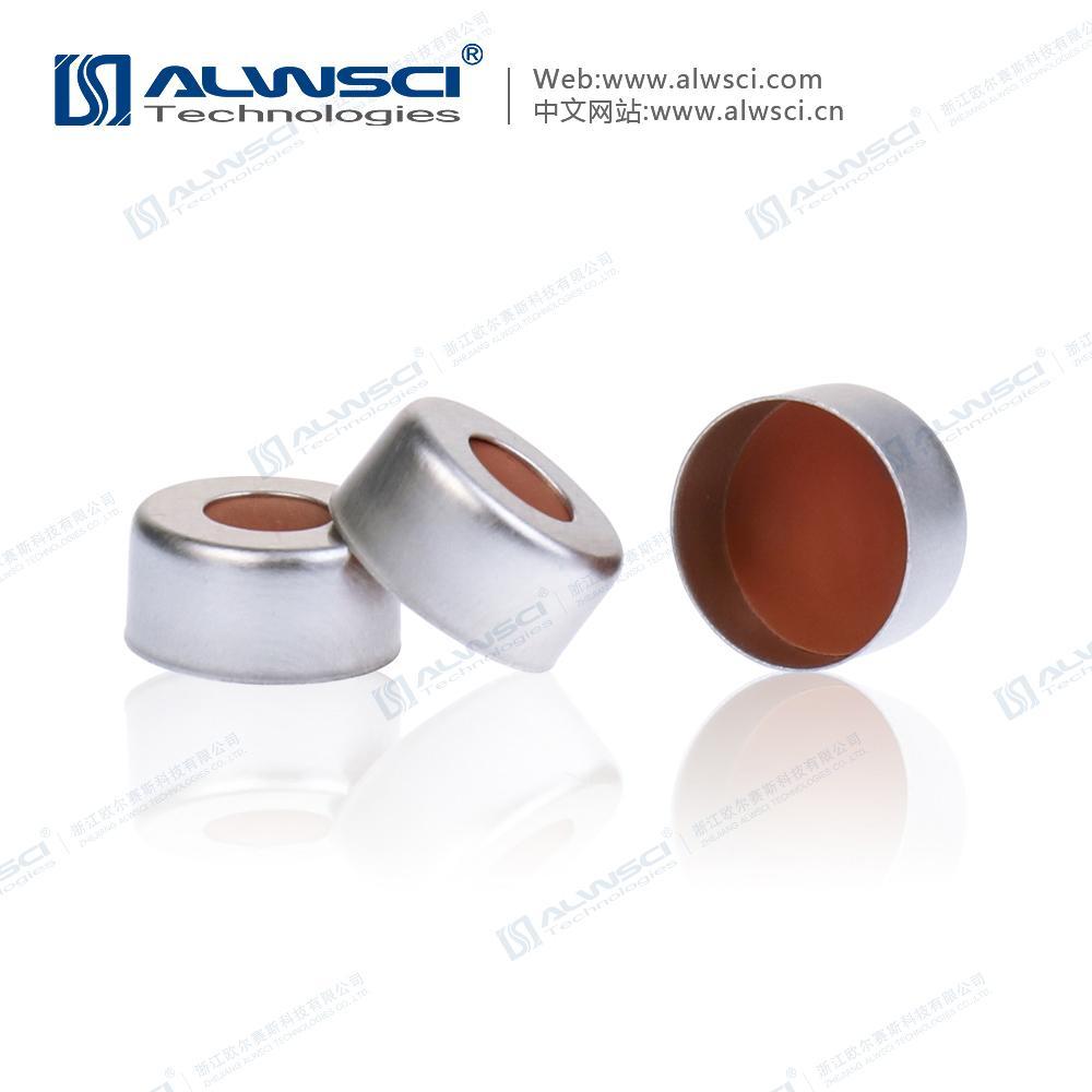 ALWSCI 11mm 鉗口進樣瓶蓋墊 PTFE天然橡膠墊 1