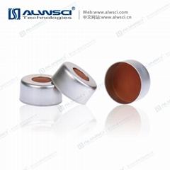 ALWSCI 11mm 鉗口進樣瓶蓋墊 PTFE天然橡膠墊