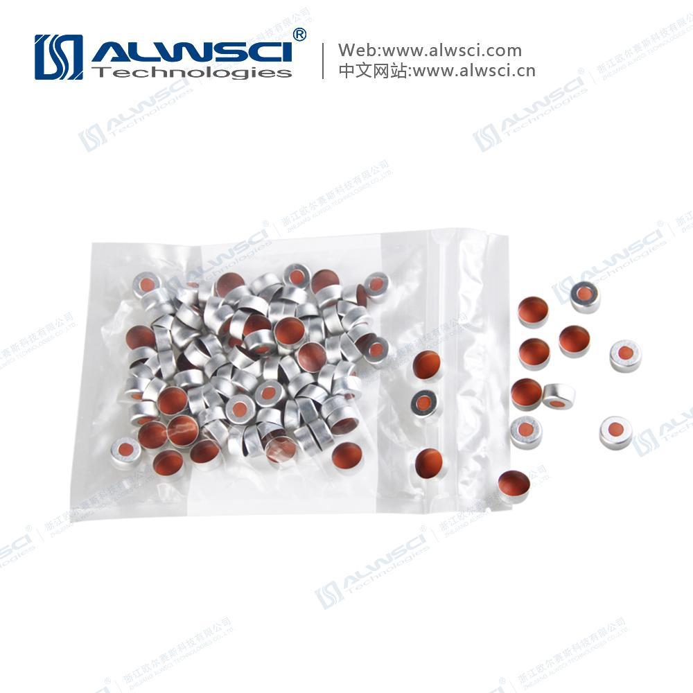 ALWSCI 11mm 鉗口進樣瓶蓋墊 PTFE天然橡膠墊 5