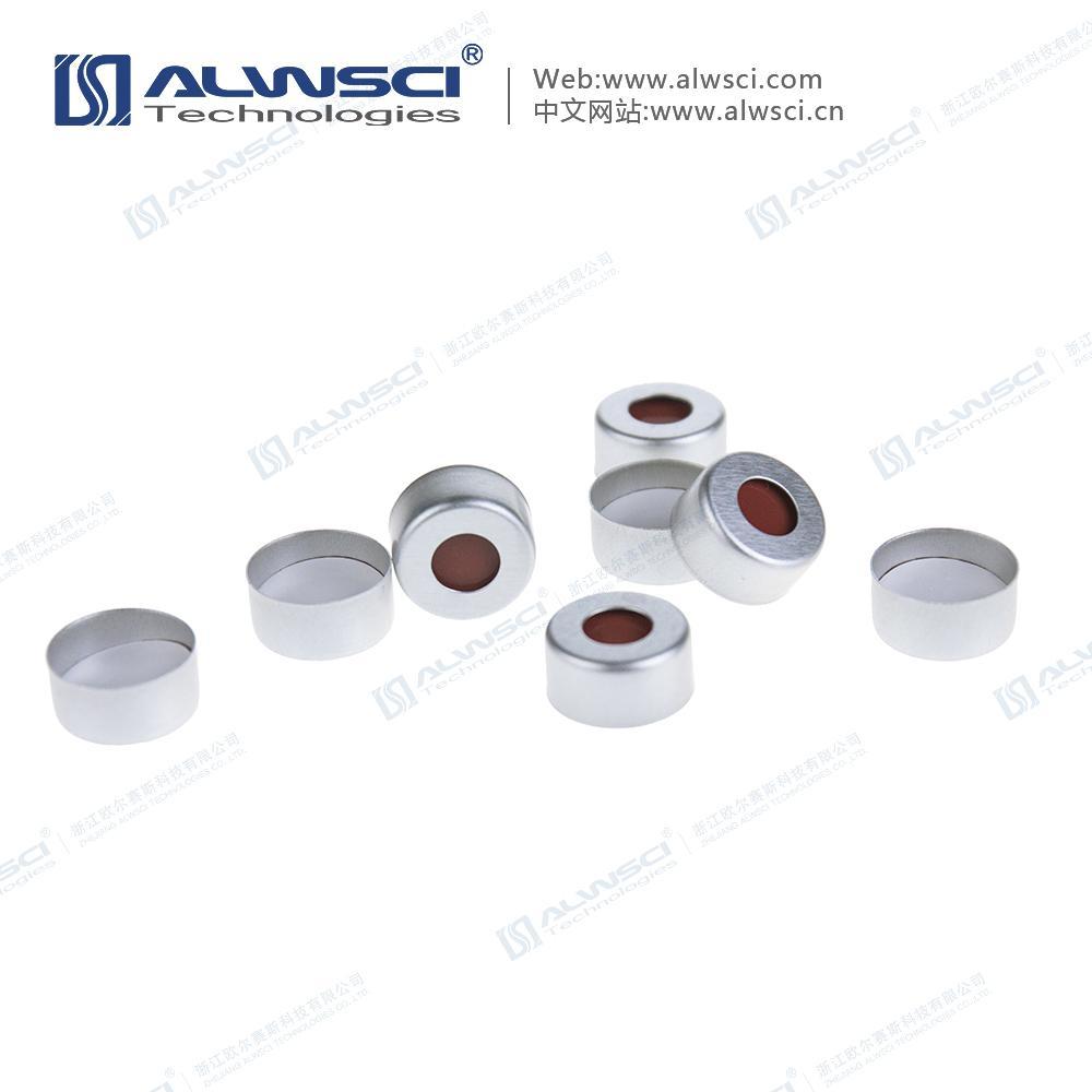 ALWSCI 11mm 鉗口進樣瓶蓋墊 PTFE天然橡膠墊 2