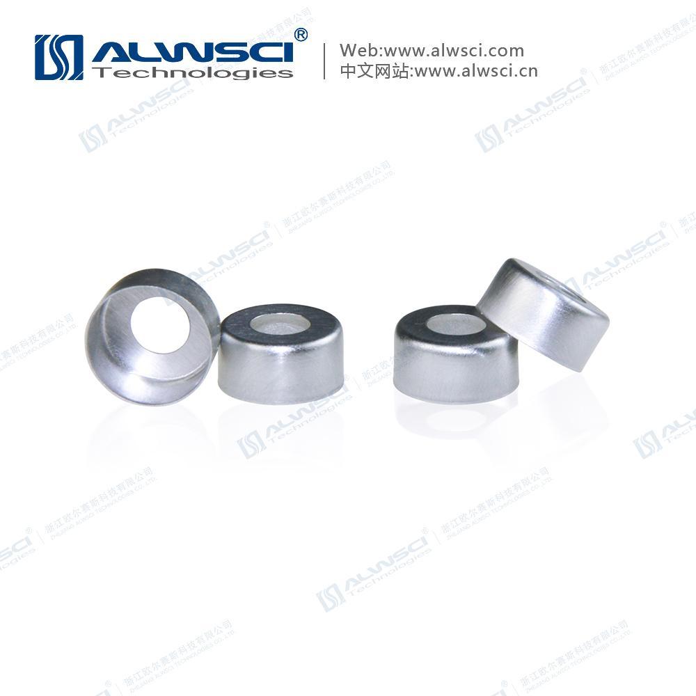 ALWSCI 11mm 鉗口進樣瓶蓋墊 PTFE天然橡膠墊 4