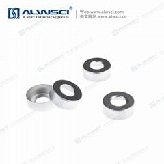 ALWSCI 20mm 钳口 顶空进样瓶盖垫 PTFE硅胶复合垫片 气相色谱