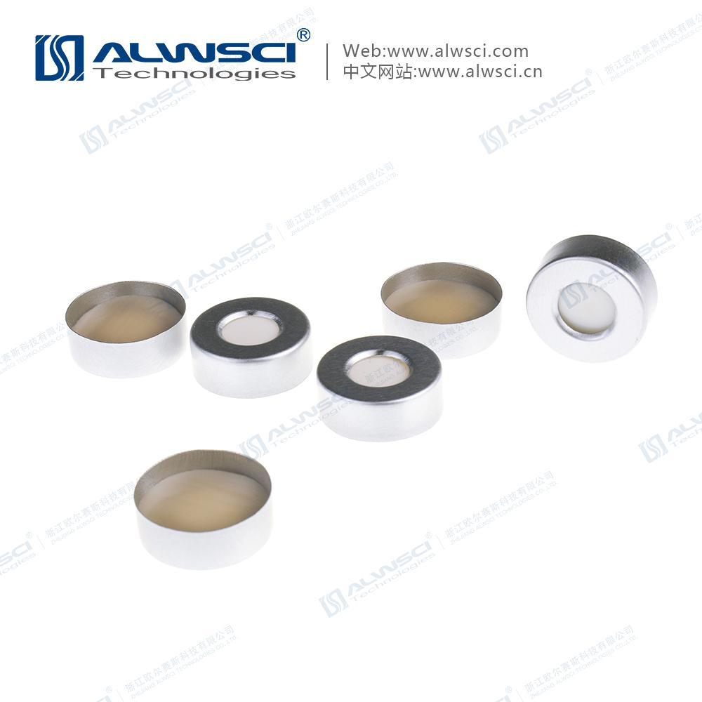 ALWSCI 20mm 鉗口 頂空進樣瓶蓋墊 PTFE硅膠復合墊片 氣相色譜 4