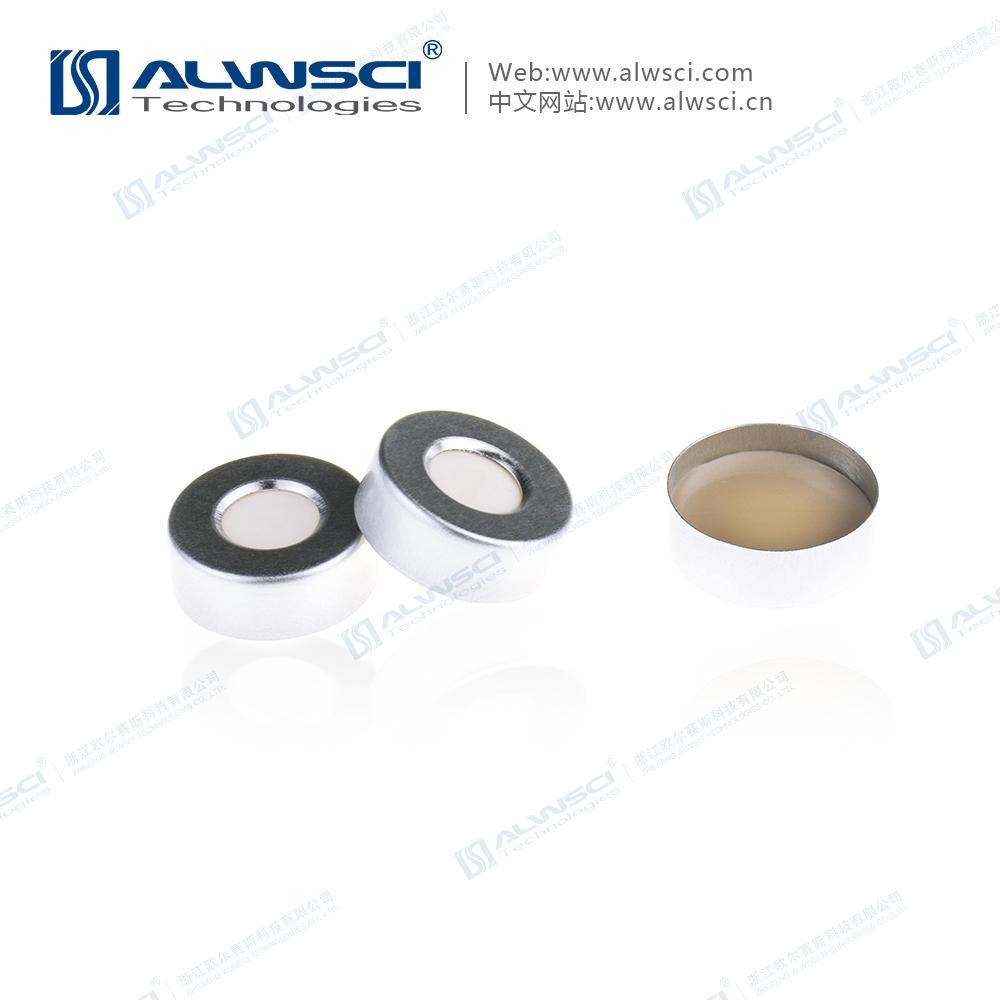 ALWSCI 20mm 鉗口 頂空進樣瓶蓋墊 PTFE硅膠復合墊片 氣相色譜 5