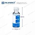 2ml色譜自動液相瓶 8mm玻璃樣品瓶 透明帶刻度 8-425 2