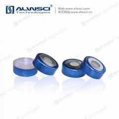 ALWSCI 20mm 頂空瓶雙金屬開孔磁性蓋墊  PTFE硅膠墊