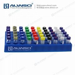 ALWSCI 蓝色PP塑料 瓶架孔架50孔 适用1.5mL/2mL进样小瓶