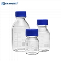 1000mL 蓝盖试剂瓶 透明 玻璃容量瓶 带刻度 丝口螺口瓶密封瓶