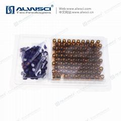 ALWSCI lab analytical 2ml 9-425 hplc vial cap septa kit packing