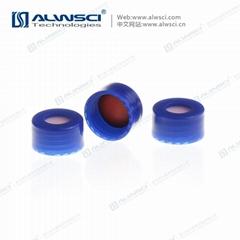 ALWSCI 9-425藍色光滑開孔蓋墊 PTFE硅膠復合墊片