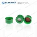 ALWSCI 9-425開孔光滑蓋 透明膜橘紅色天然橡膠 2
