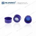 ALWSCI 9-425開孔光滑蓋 透明膜橘紅色天然橡膠 3