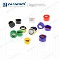 ALWSCI 9-425開孔光滑蓋 透明膜橘紅色天然橡膠 4