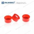 ALWSCI 9-425開孔光滑蓋 透明膜橘紅色天然橡膠 5