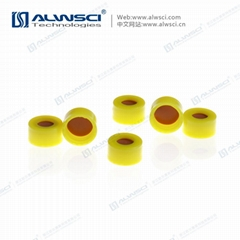 ALWSCI 9-425開孔光滑蓋 透明膜橘紅色天然橡膠