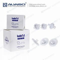 Welded syringe filter