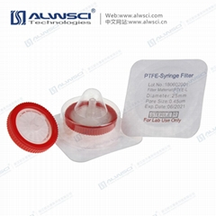 Labfil 无菌针式过滤器 25mm PTFE聚四氟乙烯 0.45um