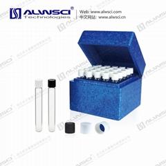 ALWSCI Clear Glass 10ml Screw Test Tube