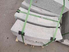 湖北罗田芝麻白异形S型弧形石材加工
