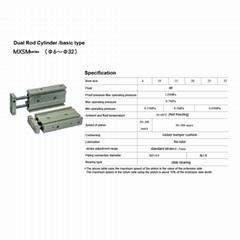 twin rods pneumatic cylinder actuators
