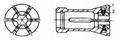 新型镶块式弹簧夹具夹头