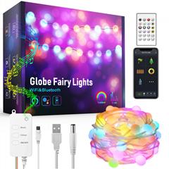 10 m LED doodle control music sync ball light string USB