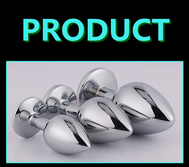 Quality Jewel Metal Butt Plug Sex Toys Cystal Butt Plug