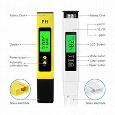 Best price 4 in 1 PH EC CF TDS Meter ph meters Suit With Backlight for water tes