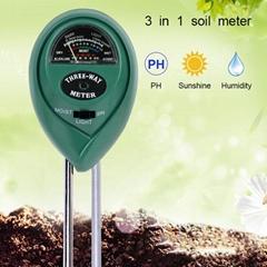 Wholesale 3 in 1 Plant tester Soil PH Meter For Test Soil Moisture PH Light in P
