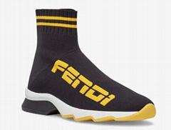 SNEAKERS Black       fabric sneakers       casual sock shoes