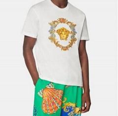 newest         short T-shirt TRÉSOR MEDUSA EMBROIDERED T-SHIRT,famous T-shirt (Hot Product - 1*)