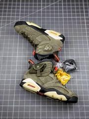 "best version Travis Scott x Air Jordan 6 ""Medium Olive"",Jordan 6 sport shoes (Hot Product - 1*)"