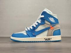 "Best replica Air Jordan 1 x OFF-WHITE ""UNC"" AF1 sport shoes Air Jordan 1 sneaker (Hot Product - 1*)"