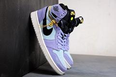"""Air Jordan 1 High Switch """"Purple Pulse"""" Violet Zipper Air Jordan 1"""