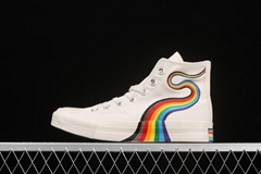 Converse Pride Chuck rainbow color fashion all-match canvas shoes casual shoes