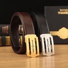Mont Blanc belts straps leather belt buckle Reversible leather strap  men belts