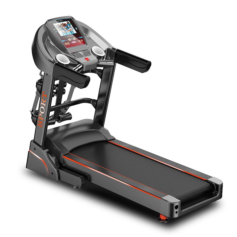 豪華電動跑步機家用款靜音減震室內折疊式多功能彩屏wifi健身器材 1