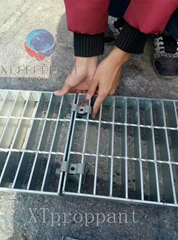 Hot Dipped Ga  anized Press Welded 5mm Heavy Duty Steel Grating for Drainage