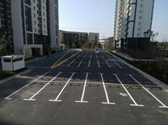 停車場劃線、小道路劃線、商業區道路劃線