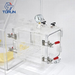 Lab Bench-top Acrylic Transparent Glovebox With Optional Box AGB2B